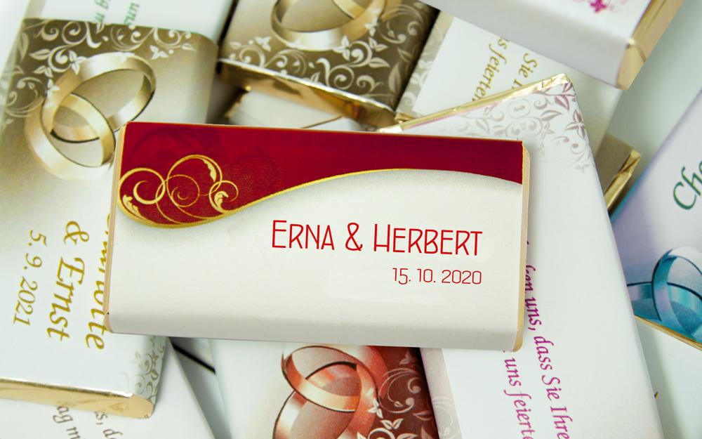 Mini Schokolade Personalisiert Hochzeit Namenschilder